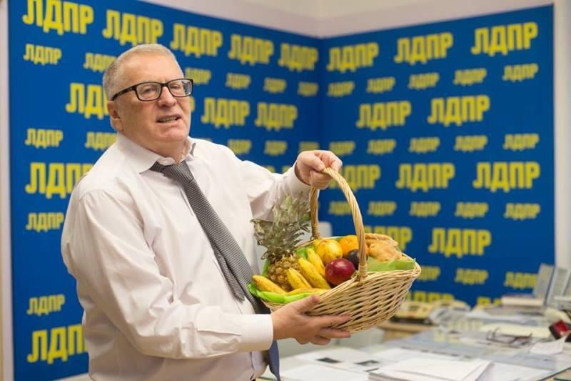 Владимир Жириновский - вегетарианец